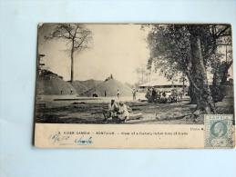 Carte Postale Ancienne: GAMBIE : River Gambia  KONTU UR : View Of A Factory In Full Time Of Trade , Stamp - Gambie