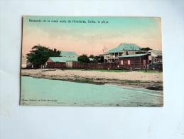 Carte Postale Ancienne: HONDURAS : Recuerdo De La Costa Norte CEIBA , La Playa - Honduras