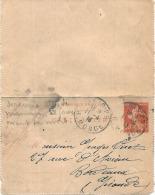 -  Carte Lettre Entier Postal Semeuse - Lettres & Documents