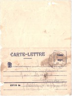 Carte Lettre Tresor Et Poste - Carreé De Franchise Militaire  Sale - France