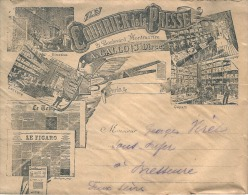 Enveloppe Publicitaire  - Son Courrier Et Sa Coupure De Journal (image Non Contractuelle Nouvelle Diff)  1896  TB - Covers & Documents