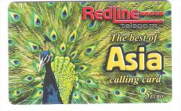 Germany - Prepaid Card  - Pfau - Bird - Vogel - Redline Telecom - Asia Calling Card - Germany