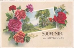 A2A Z30 CARTE POSTALE 80 SOUVENIR DE SOYECOURT 1956 RARE A VOIR - France