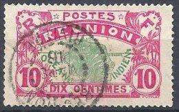 10 C. De 1907-17 Oblitéré RIVIERE En 1916 - Reunion Island (1852-1975)