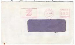 ZAIRE - COVER 1992 / RED METER/EMA UNION ZAIROISE DE BANQUES / BANK - Autres