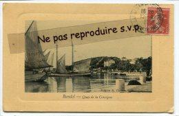 - Bandol - Quai De La Consigne, Splendide, En 1911 ?, Bateaux à Voiles, Peu Courante, écrite, BE, Scan. - Bandol