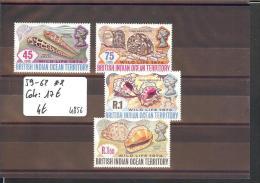 BIOT  - No Michel 59-62  ** ( SANS CHARNIERE  )    -  COTE:  17 € - British Indian Ocean Territory (BIOT)