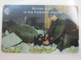 Falkland Islands GPT Magnetic Phonecard,59CFKB Royal Engineers,used - Falkland Islands