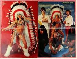 2 Kleine Poster  Band Orlando Riva Sound ,  1 Rückseite Christa Kinshofer  -  Von Pop Rocky + Bravo Ca. 1982 - Plakate & Poster