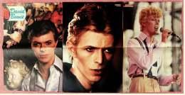3 Kleine Poster  David Bowie ,  1 Rückseite Jack Nicholson  -  Von Pop Rocky + Bravo Ca. 1982 - Plakate & Poster