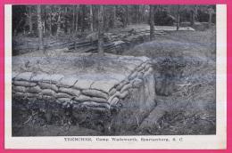 078 - ETATS-UNIS - Trenches, Camp Wadsworth , Spartanburg, South Carolina, - Non Classés