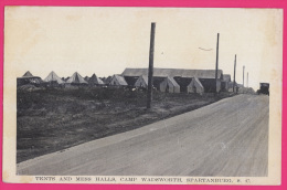 079 - ETATS-UNIS - Tents And Mess Halls, Camp Wadsworth , Spartanburg, South Carolina, - Non Classés