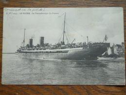 """Le Transatlantique """" La PROVENCE """" Le HAVRE ( 2035 ) Anno 1910 ( Zie Foto Details ) !! - Cargos"""