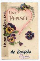 - UNE PENSÉE DE  Barjols - ( Var ), Belle, Rare, écrite En Juin 1944, TBE, Scans. , - Barjols