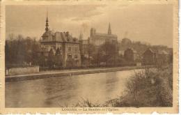 CPSM LOBBES (Belgique-Hainaut) - La Sambre Et L'église - Lobbes
