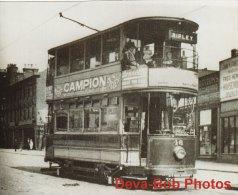 Tram Photo Nottinghamshire & Derbyshire Tramways Car 16 Tramcar 1915 NOTTINGHAM - Trains