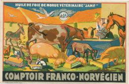 Pub Veterinaire Veterinary  Huile Foie Morue JAMF Comptoir Franco Norvegien Dunkerque 59 - Santé