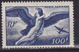 FRANCE N°PA 18 100F BLEU FONCE EGINE QUE DE L´AVION MODIFIEE ET TRAIT DE COULEUR   NEUF SANS CHARNIERE - 1927-1959 Mint/hinged