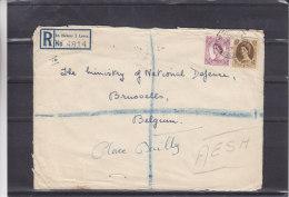 Grande Bretagne - Lettre Recommandée De 1960 ° - Oblitération St Helens - Duke Street - 1952-.... (Elizabeth II)