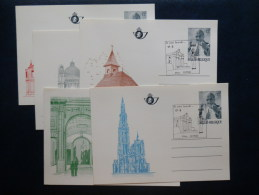 34/113   5 CP  BK34/38  OBL. IEPER VISITE DU PAPE   COTE 55 EURO - Stamped Stationery