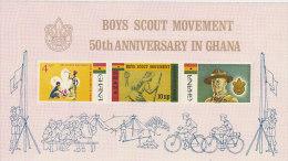 Ghana-1967 Boy Scouts 50th Anniversary Souvenir Sheet MNH - Ghana (1957-...)