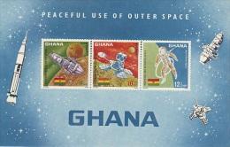 Ghana-1967 Space Souvenir Sheet MNH - Ghana (1957-...)