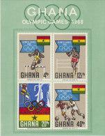 Ghana-1968 Olympic Games Souvenir Sheet Imperforated MNH - Ghana (1957-...)