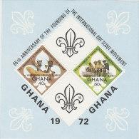 Ghana-1972 65th Anniversary Boy Scouts Movement Souvenir Sheet MNH - Ghana (1957-...)