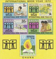 Ghana-1972 International Book Year Souvenir Sheet MNH - Ghana (1957-...)