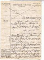 LETTRE DEMANDE DE PISTON D UN GENDARME POUR SON FILS GOUMIER1938LUCIEN SENTEIN - Documents Historiques