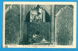 CP, FEZ, Intérieur De La Médersa - Bou Anania, Ecrite - Fez (Fès)