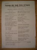 Programma Della Grande Rivista Dell'Impero.ROMA 1937. Ordine Della Sfilata. MUSSOLINI - Programs