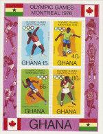 Ghana-1976 Montreal Olympic Games Souvenir Sheet MNH - Ghana (1957-...)
