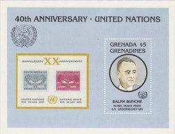 Grenada Grenadines-40th Anniversary United Nations Souvenir Sheet MNH - Grenada (1974-...)