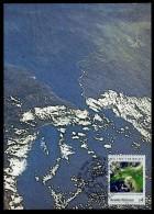 92052) UNO Wien - Michel 92 / 93 - 2 Maximumkarten MK/MC - 25 Jahre Weltwetterwacht - Cartes-maximum