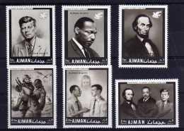 Ajman - 1968 - Human Rights/Martin Luther King Memorial - MH - Ajman