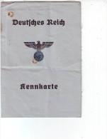 WW II NS Deutsches Reich Kennkarte Ausgestellt Für Eine Frau Brake 1941 - Documents