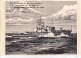 Herinneringskaart Wilhelmshaven 25 Nov 1977 - Bateaux
