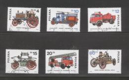 POLAND 1985 DEVELOPMENT OF FIRE FIGHTING SERVICE ENGINES & VEHICLES USED Transport Steam Motors Firemen - Firemen