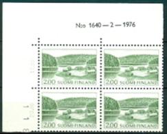 FINLAND 1963-74 2.00 Gebruikszegel Fluorescerend Blok Van Vier Met Velrand PF-MNH-NEUF - Finland