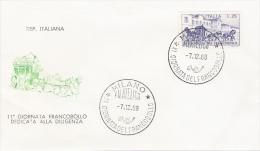 FDC Filagrano Italia: GIORNATA FRANCOBOLLO (1969); No Viaggiata ; AS_Milano - 6. 1946-.. Repubblica