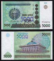 Uzbekistan 5000 Som 2013 Pick New UNC. - Uzbekistan