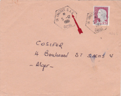 "ALGERIE Marianne Decaris Obl "" IN AMENAS S.A.S. OASIS "" Sur Lettre > Alger - Algeria (1924-1962)"