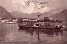 MENAGGIO-LAGO DI COMO-COMO-ARRIVO DEL PIROSCAFO-DATATA 10-5-1923-VEDERE - Como