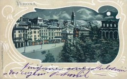 [DC8310] VERONA - PIAZZA VITTORIO EMANUELE - Viaggiata 1903 - Old Postcard - Verona