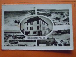 V09-29-cpa-finistere--raguenes-plage-plage-port-hotel--multivues - Altri Comuni