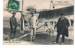 Cpa Le Monoplan Antoinette Avion Pilote