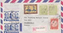 Cover From Paraguay: Swedish Label R- Från Udlandet - 1964 Paraguay - Via Lissabon - Sweden. Registered  (A378) - Posta