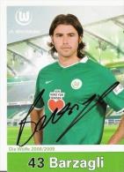 BARZAGLI ITALIE FOOTBALL CARTE AVEC AUTOGRAPHE - Autographs