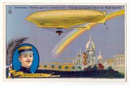 D10990 - Le Dirigeable *République* Au-dessus De L'église Du Sacré Coeur De Montmartre (Paris) - Capitaine MARCHAL - Dirigibili